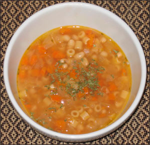 pumpkin-bean-pasta-soup