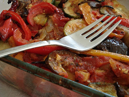 East European summer vegetable casserole